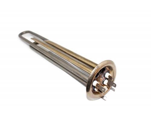 Тен 1,3 + 0,7 кВт Нерж, прямий з трубками під 2 термодатчика з кріпленням під анод М4