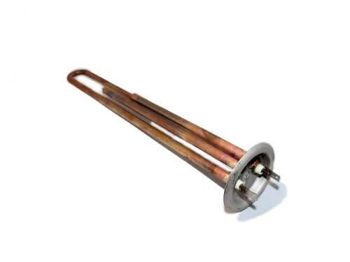 Тен 1,3 кВт мідь прямий без трубки під термодатчик з кріпленням під анод М4